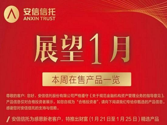 安信信托本周精选在售热销信托产品一览(01.21-01.25)